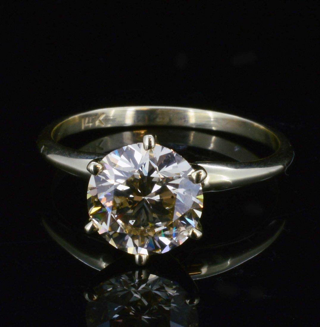 14K Gold, 2.01CT Diamond Solitaire Ring