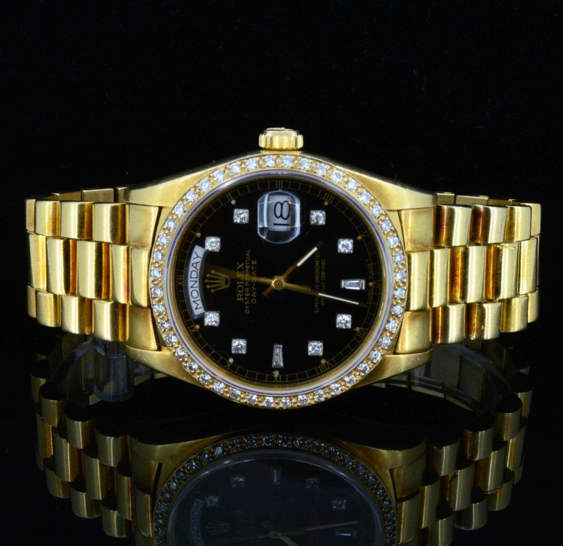 18K Gold men's Rolex Presidential watch