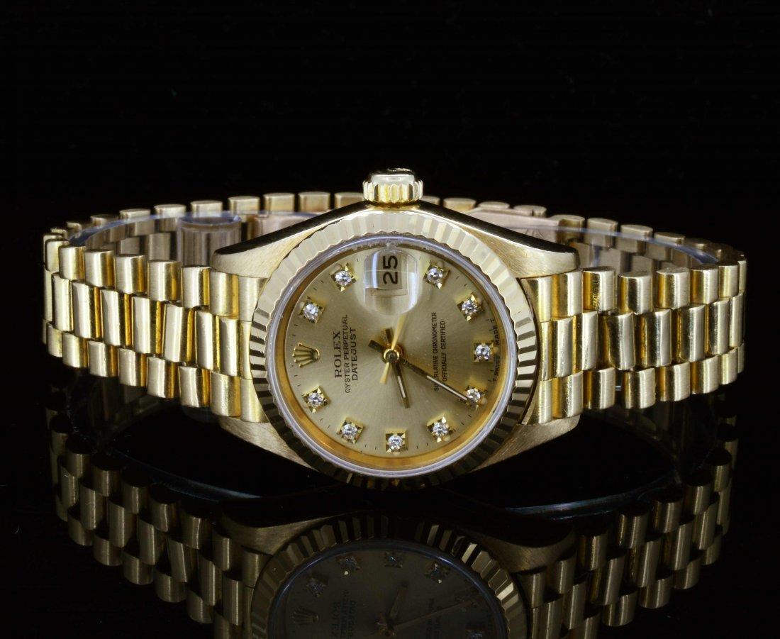 18K Gold, Ladies Rolex Presidential watch