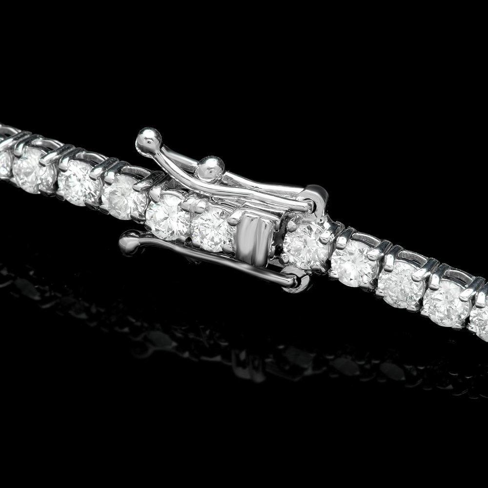 18k White Gold 4.65ct Diamond Bracelet - 2