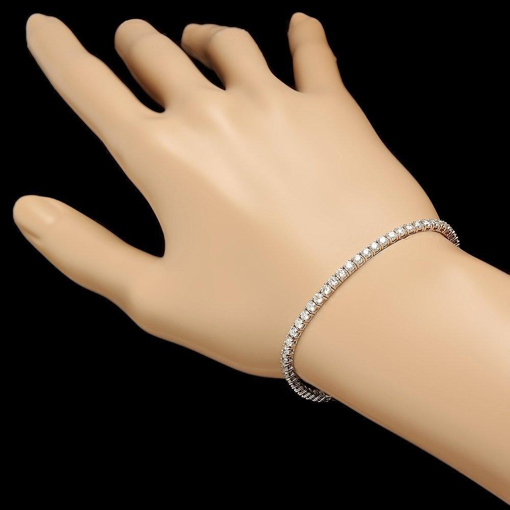 18k White Gold 4.65ct Diamond Bracelet - 3