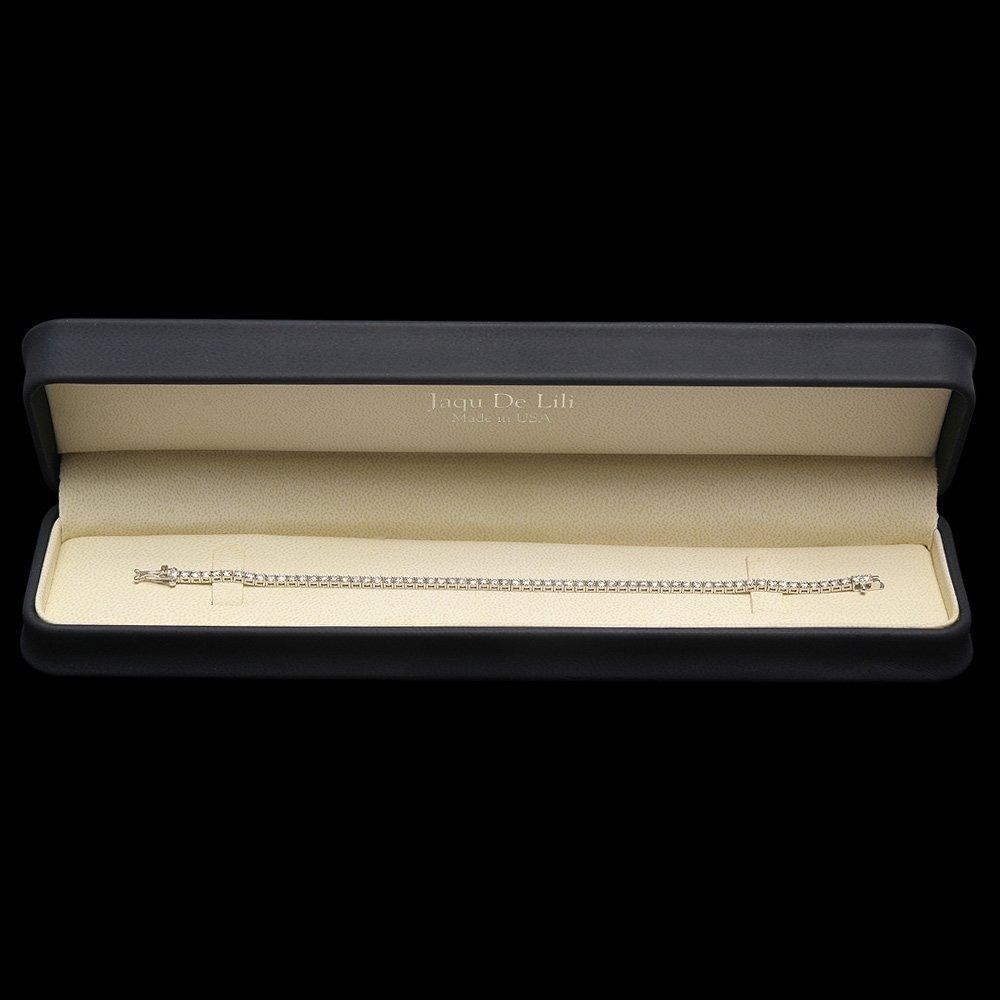 18k White Gold 4.65ct Diamond Bracelet - 4