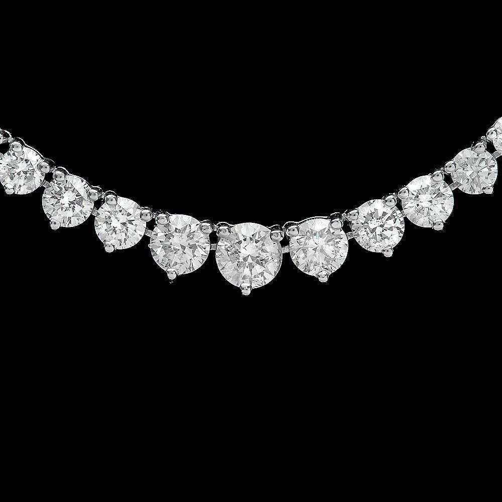 White Gold 9.30ct Diamond Necklace