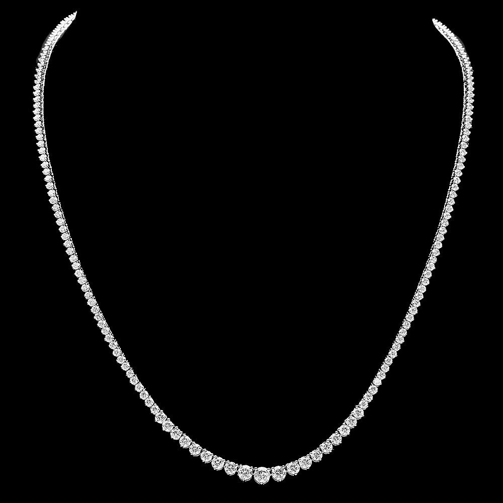 White Gold 9.30ct Diamond Necklace - 2
