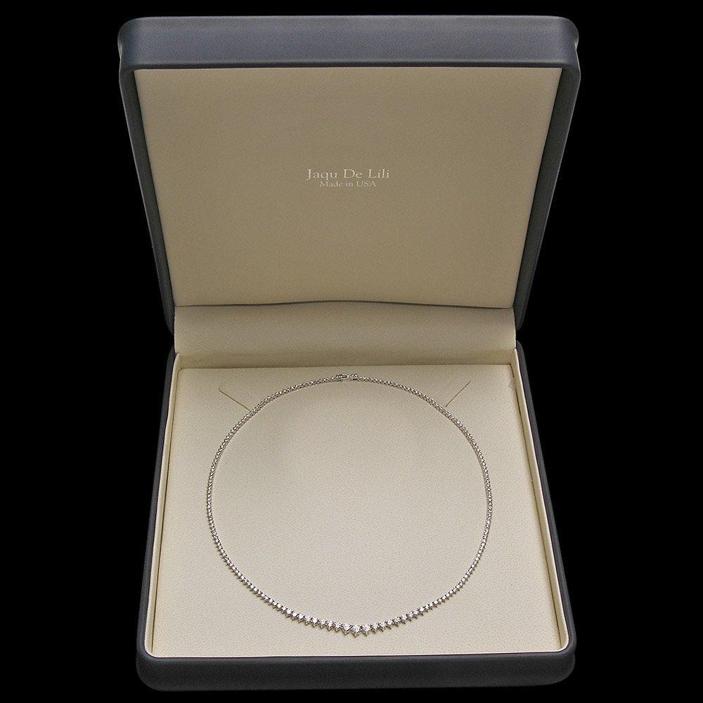 White Gold 9.30ct Diamond Necklace - 4