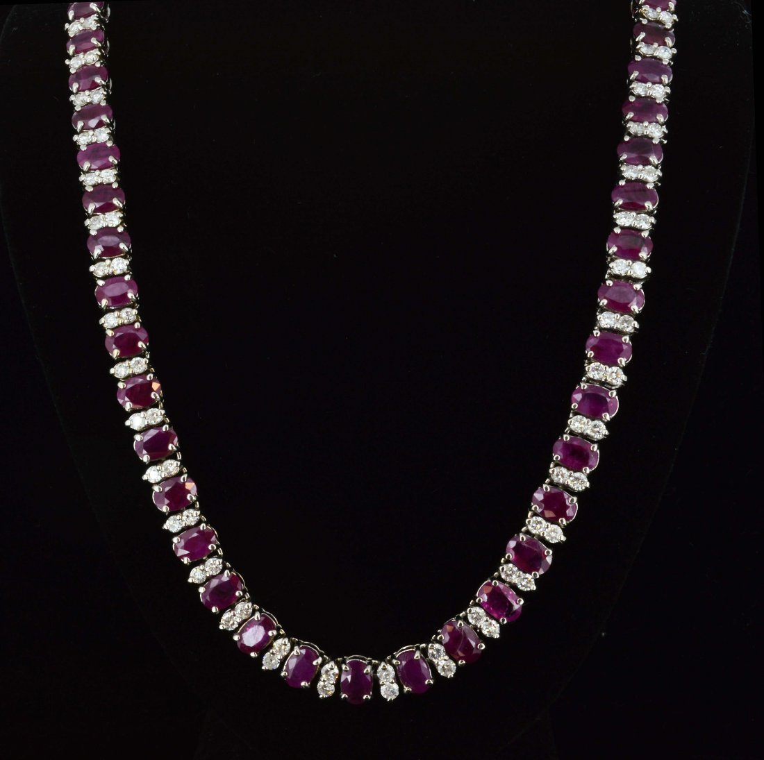 14K Gold, 32CT Ruby & 5.02CT Diamond Necklace