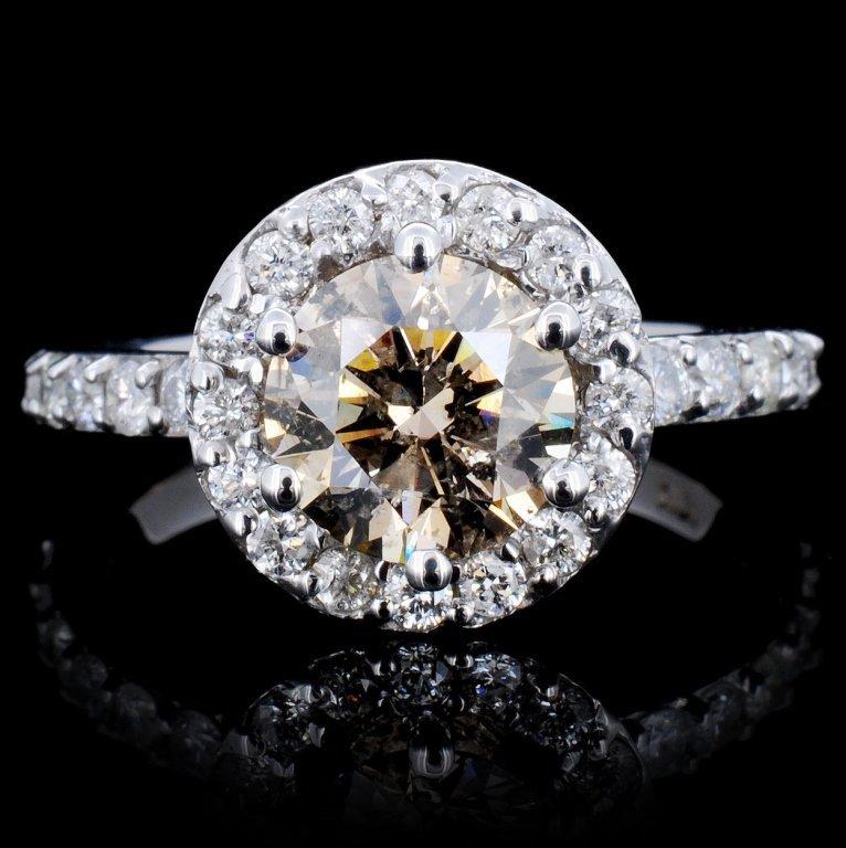 18K Gold 2.21ctw Fancy Color Diamond Ring