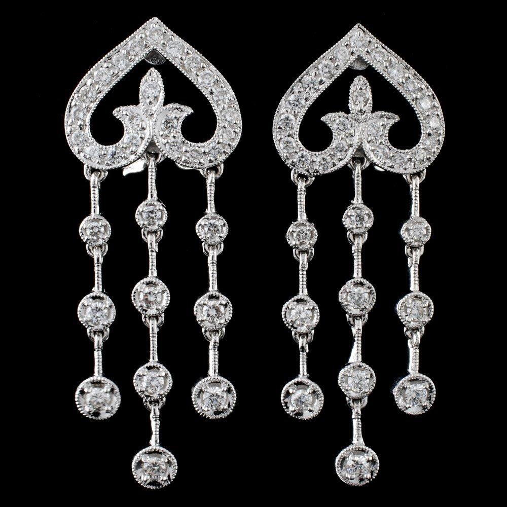 18k White Gold 0.88ct Diamond Earrings