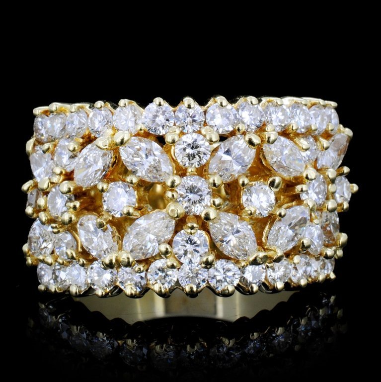18K Gold 2.75ctw Diamond Ring