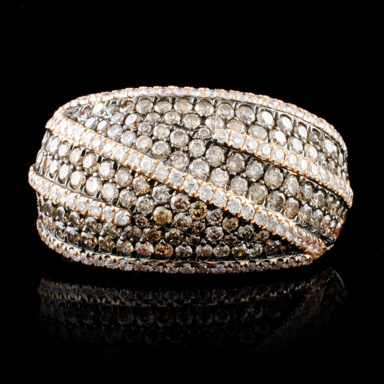 18K Gold 2.56ct Fancy Color Diamond Ring