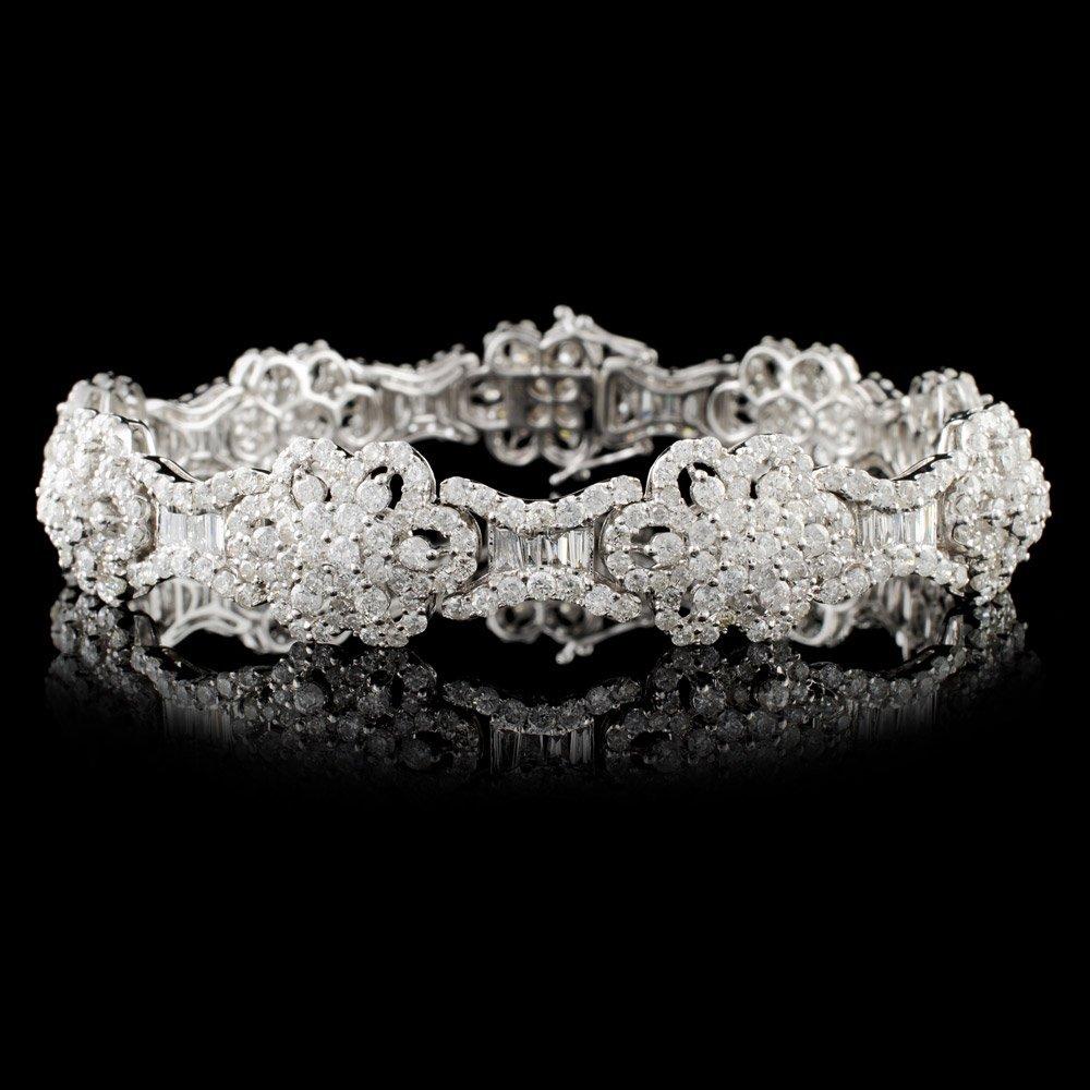 18K White Gold 8.52ctw Diamond Bracelet