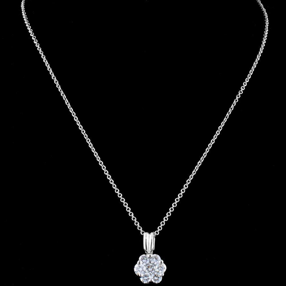 18K White Gold 0.48ct Diamond Pendant