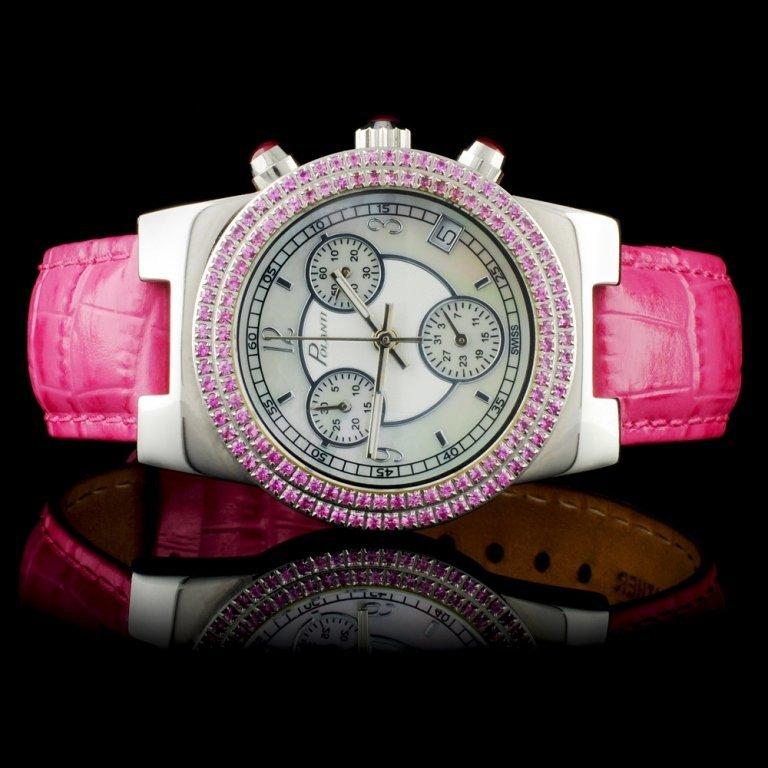Polanti SS Ciel 1.00ct Sapphire Ladies Wristwatch