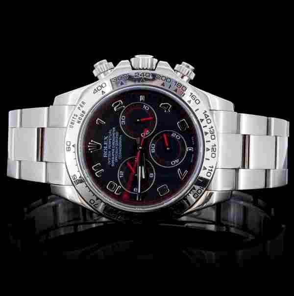 18K White Gold Rolex Daytona Wristwatch
