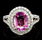 18K Rose Gold 200ct Sapphire  090ct Diamond Rin