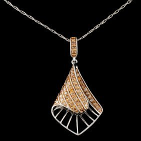 14k Gold 0.52ctw Fancy Diamond Pendant
