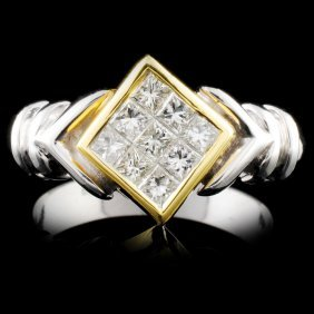 18k Gold 0.58ctw Diamond Ring