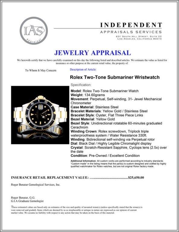 Rolex Two-Tone Submariner 40MM Wristwatch - 4