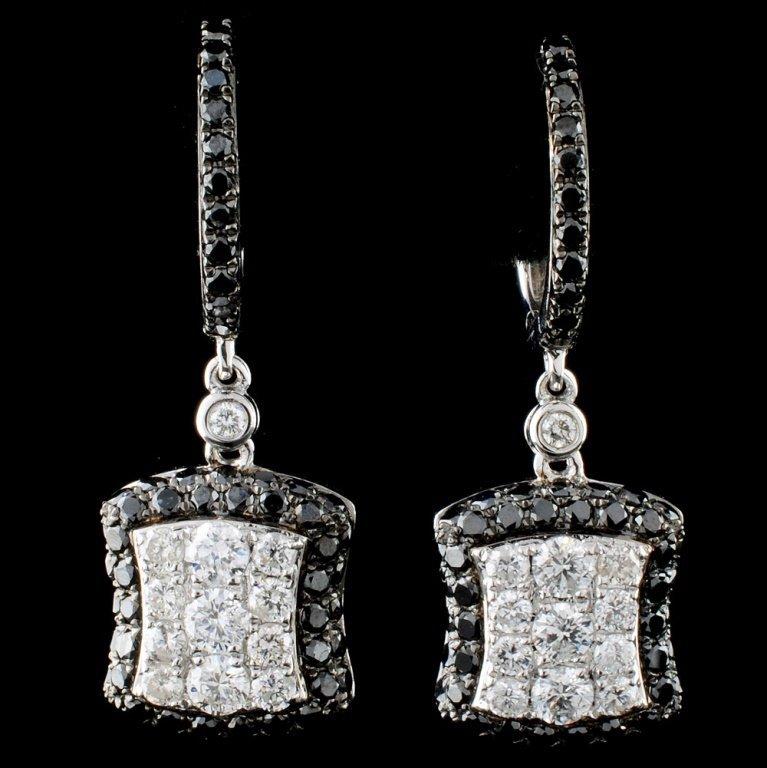 14K White Gold 1.75ctw Diamond Earrings