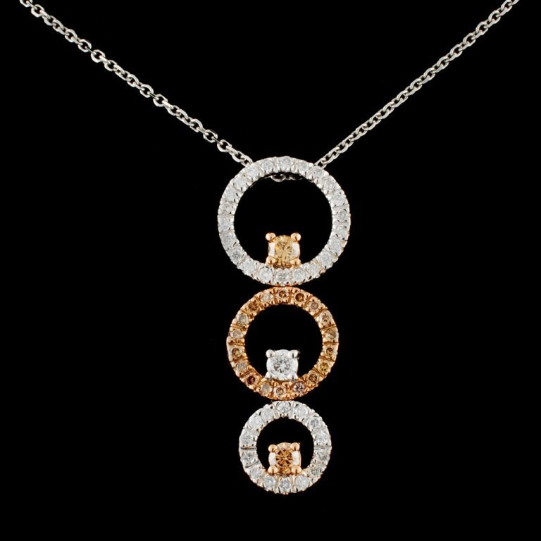 14K Gold 0.66ctw Fancy Diamond Pendant