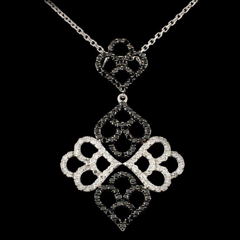 14K Gold 0.70ctw Fancy Color Diamond Pendant