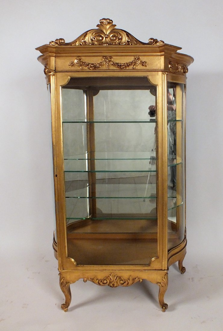 One Door Curved Sides Vitrine