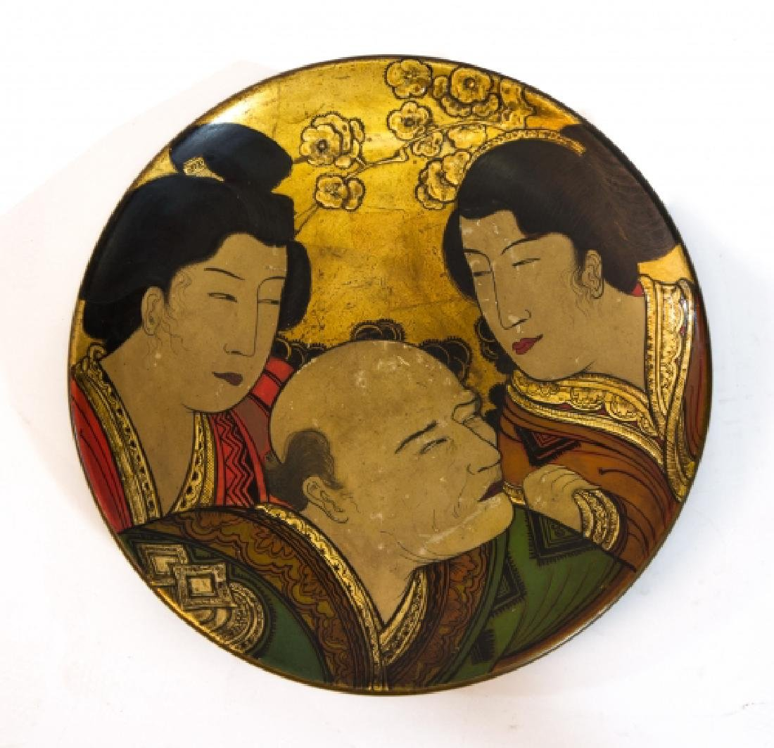 A vintage Japanese Terracotta platter