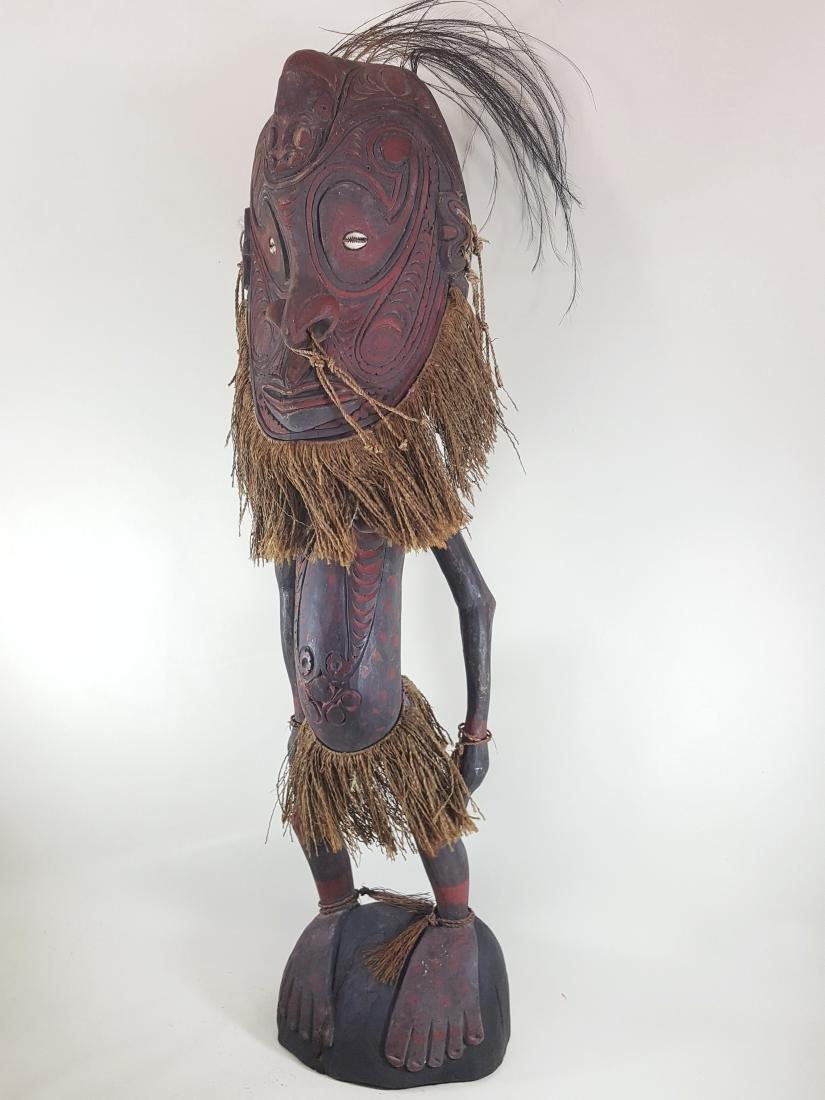 Oceania tribal art large ancestor spirit figure Sepik,