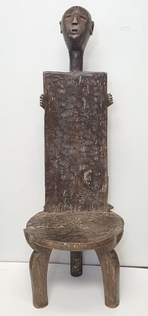 African tribal furniture ethnographic art hand carved
