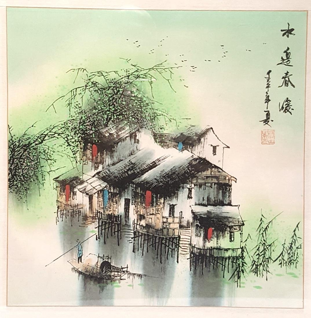 "A Chinese Watercolor painting ""River Way"""