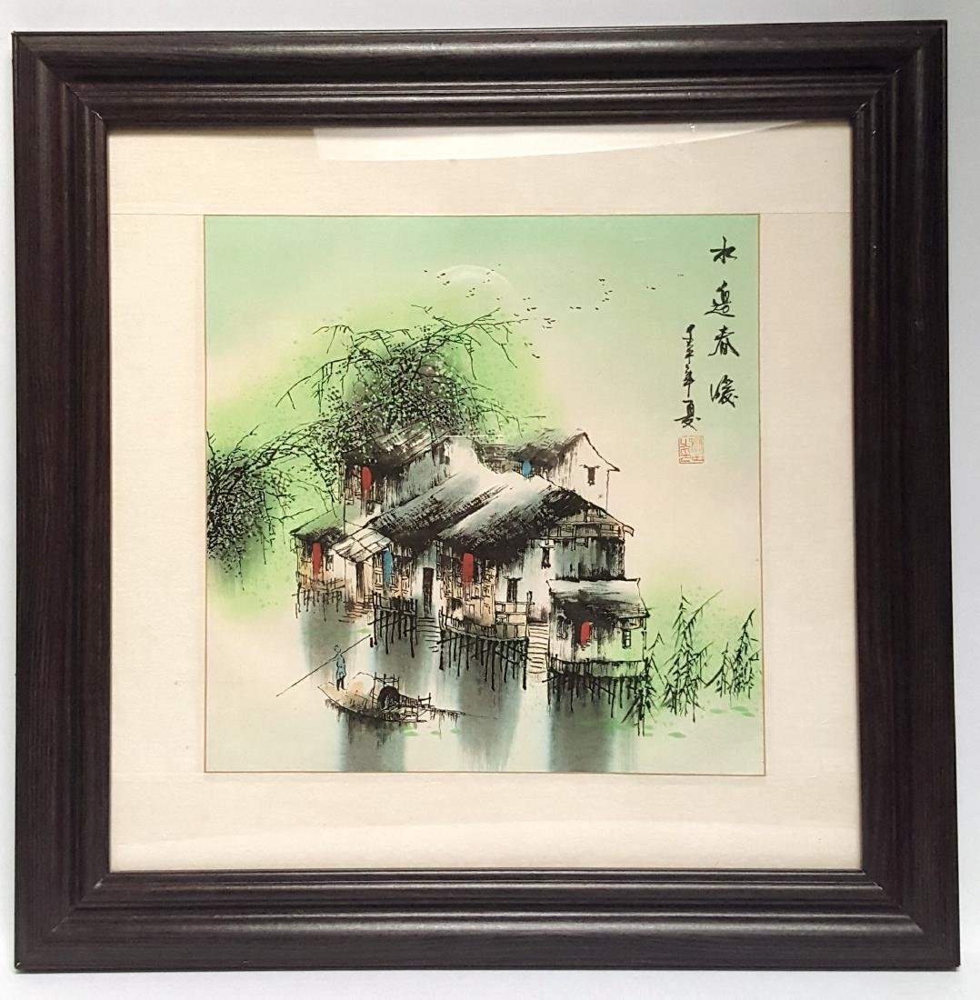 "A Chinese Watercolor painting ""River Way"" - 2"