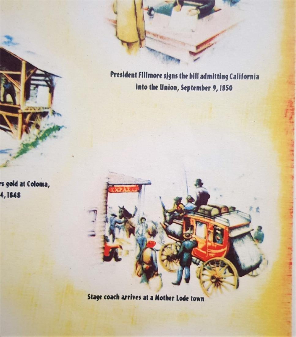 An original vintage color map of California Centennial - 6