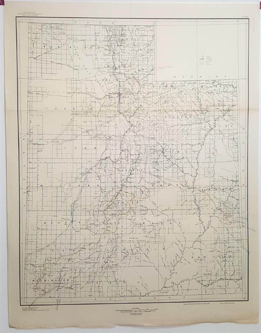 A cartographic map of Utah by U.S. Department of the