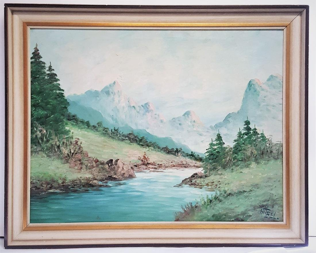 Oil painting early century signed H.Tisel