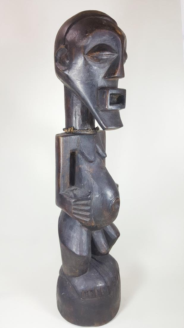 A large Songye power figure male Nkisi statue, D.R. of