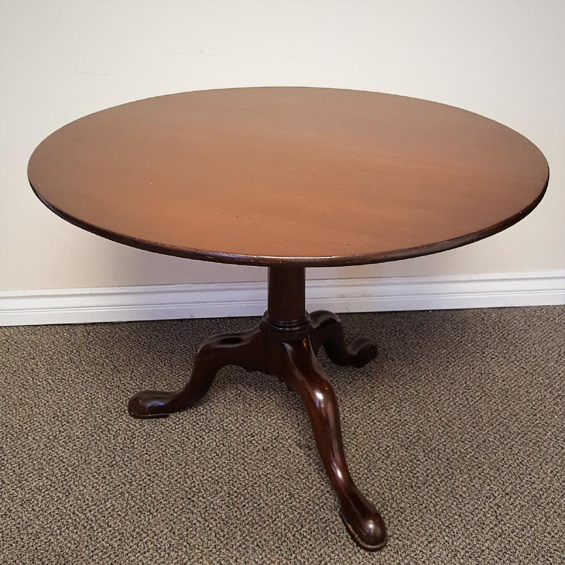 Antique Georgian solid walnut sound tilt/snap top tea