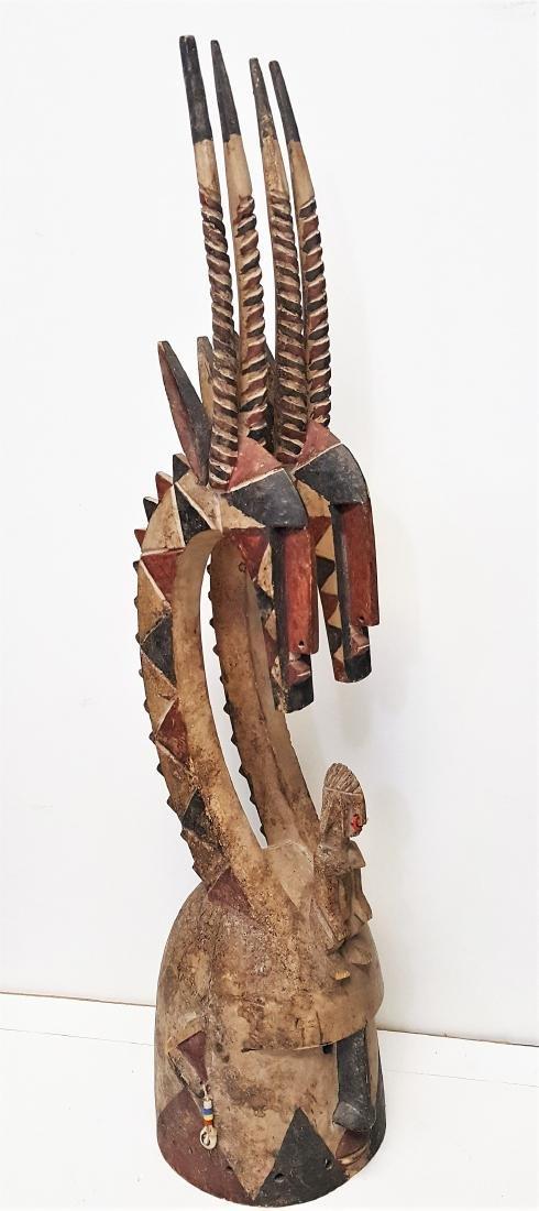 African tribal art, Mali Bambara people, Chiwara helmet