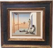 Original tempera canvas signed and dated Aldo Pagliacci