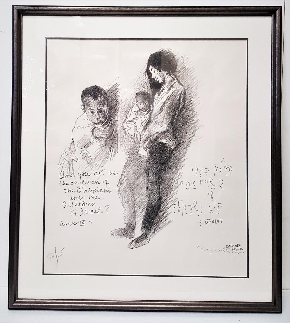 Lithograph pencil signed by Raphael Soyer (1899-1987