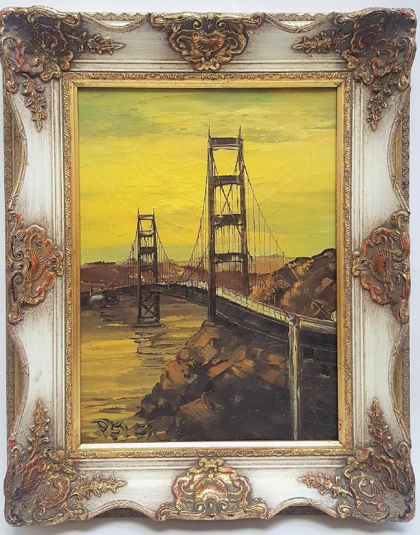 Original oil painting on canvas by Peter Burnell Golden