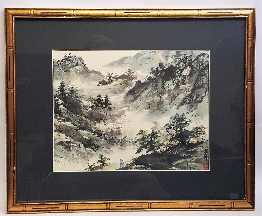 A vintage Original Chinese watercolor painting