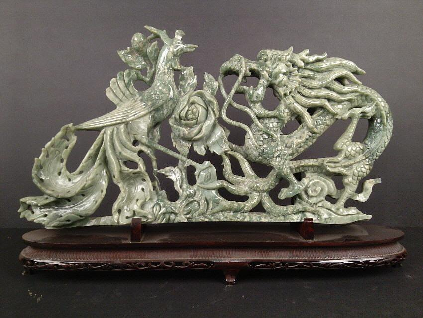 1004: New Jade Carving with Dragon and Phoenix