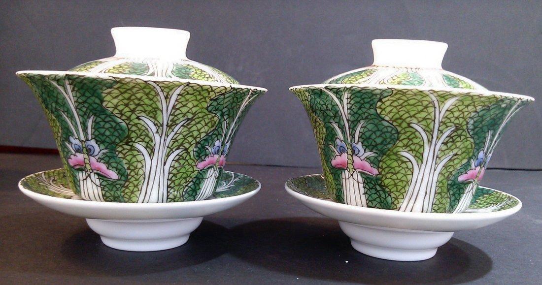 One Pair of Porcelain Kuang Hsu Tea Cups - 2
