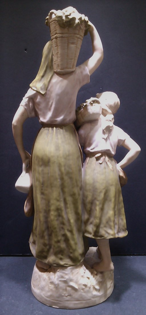 """Royal Dux Mother and Daughter Figure 23"""" - 6"""