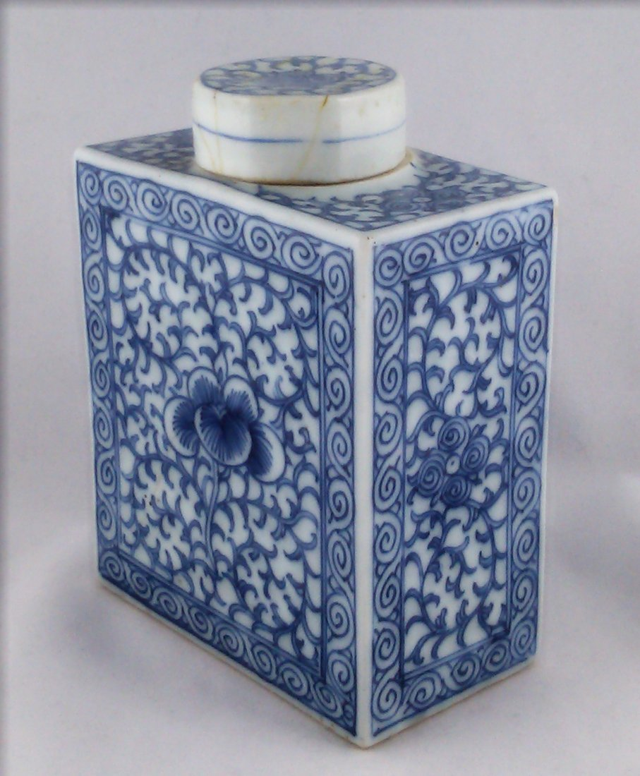 BLUE AND WHITE PORCELAIN TEA CANDLE VESSEL
