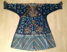 CHINESE EMBROIDERY SILK EMPEROR'S ROBE