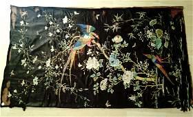 CHINESE SILK EMBROIDERY OF PHOENIXPEONY BIRD