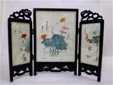 VINTAGE CHINESE TABLE SCREEN HAND PAINTED