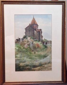 L. Berberyan Watercolor On Paper