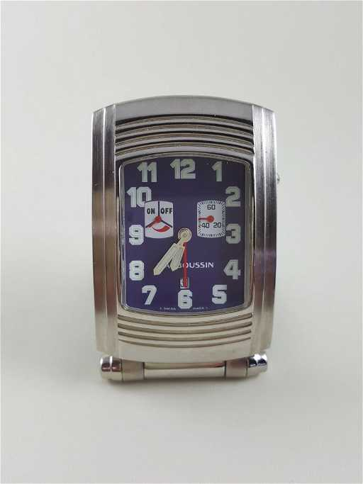 A Mauboussin Fouga Travel Alarm Clock Swiss